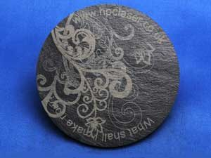 Welsh slate coaster