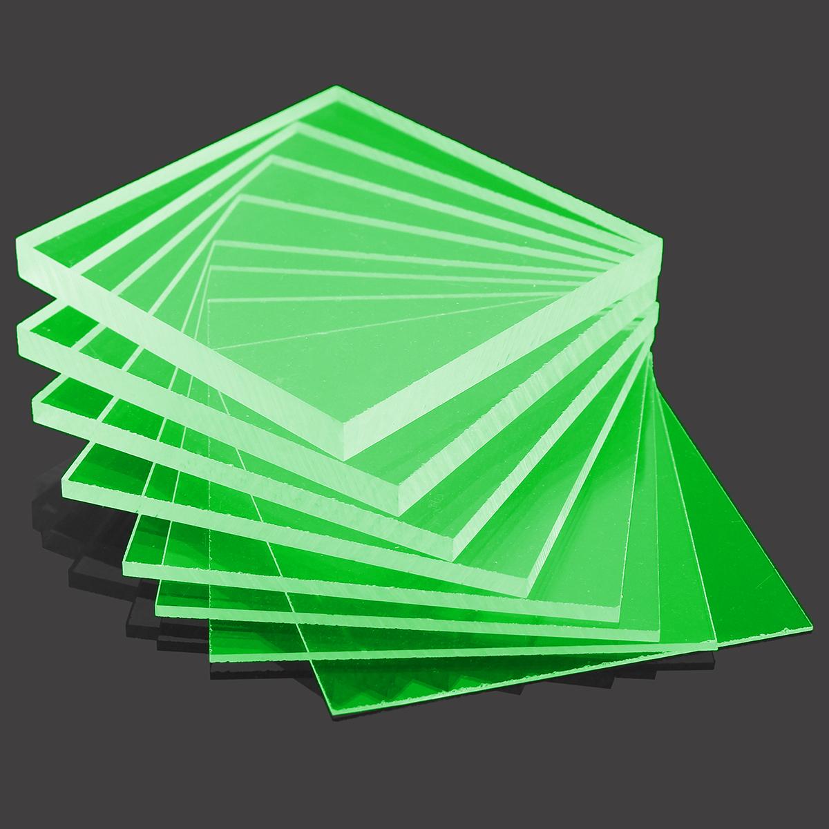 Cast acid flourescent green acrylic