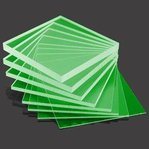 Green cast acrylic