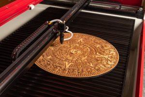 Mayan Calendar laser engraving by LS6090