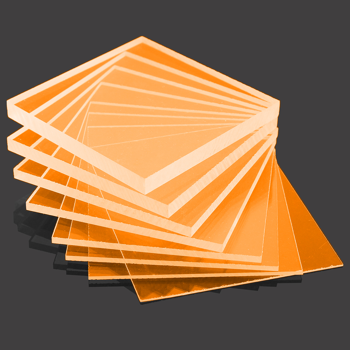 Orange cast acrylic