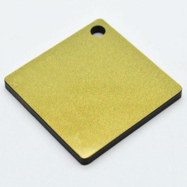 Perspex Duo glitter gold