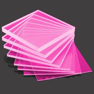 Pink cast acrylic