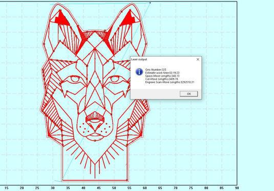 Lasercut 5.3 work time