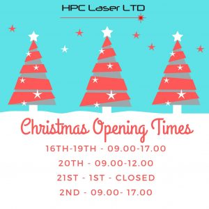 HPC Laser Christmas Open Hours