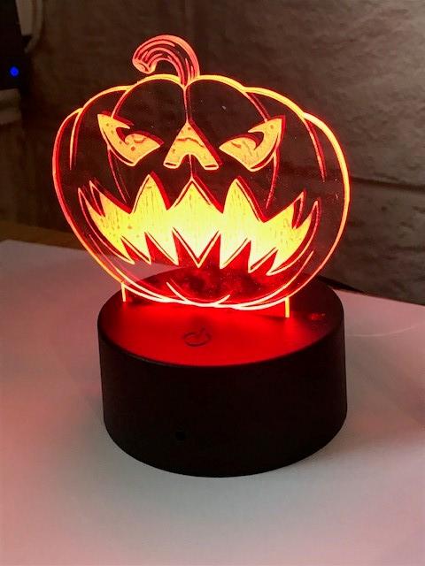 Laser Cut Halloween Pumpkin