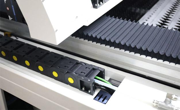 Close up of fiber laser cutter LS1390