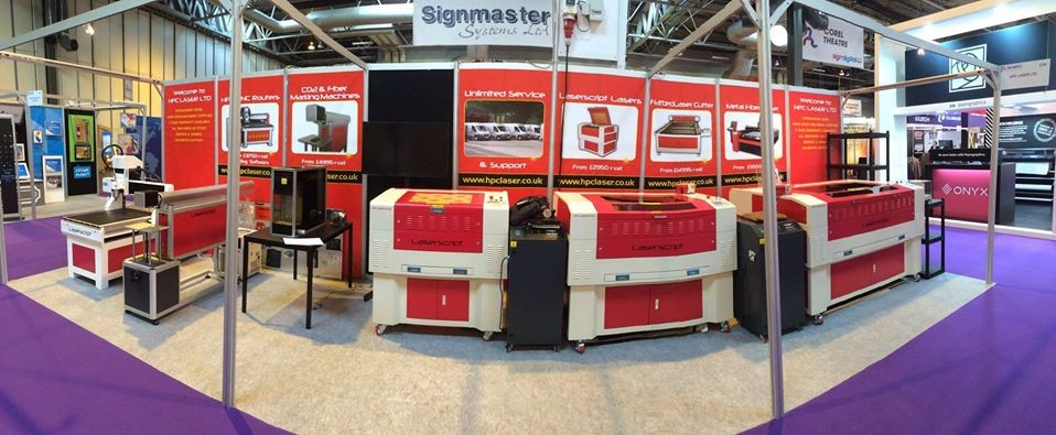 Laser Cutters at Sign & Digital UK Ehibition