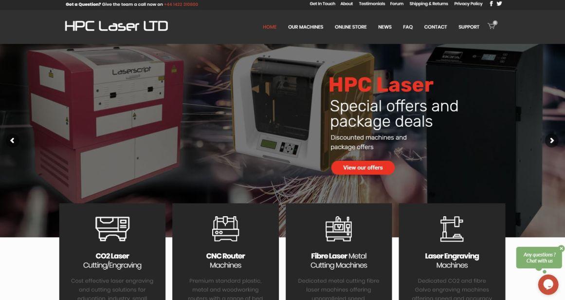 HPC Laser Website