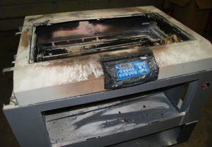 Laser Cutter Fire