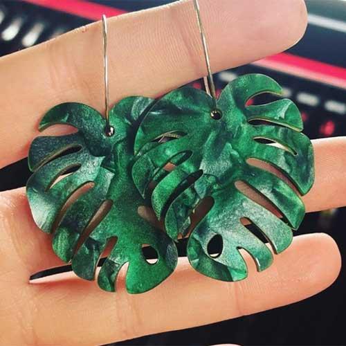 Laser Cut Leaf Earrings