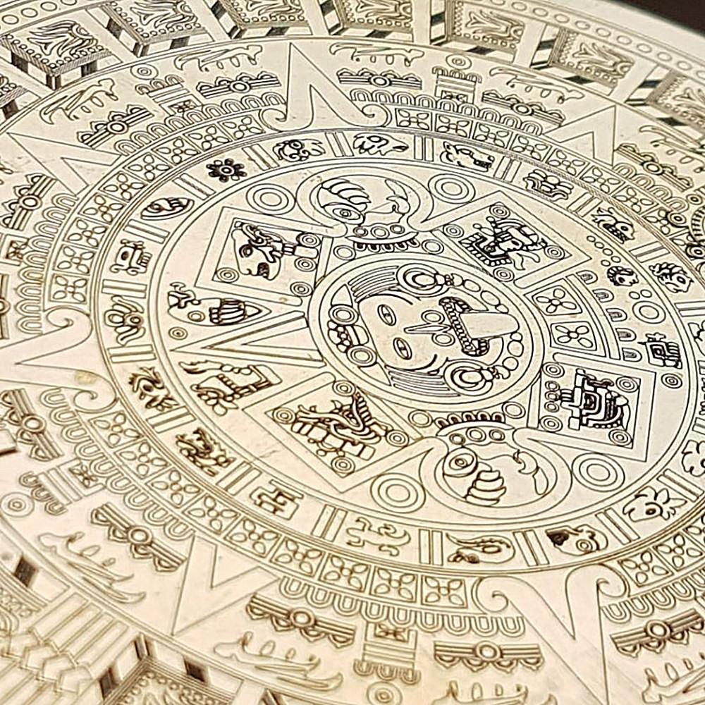Engraved Maya Calendar