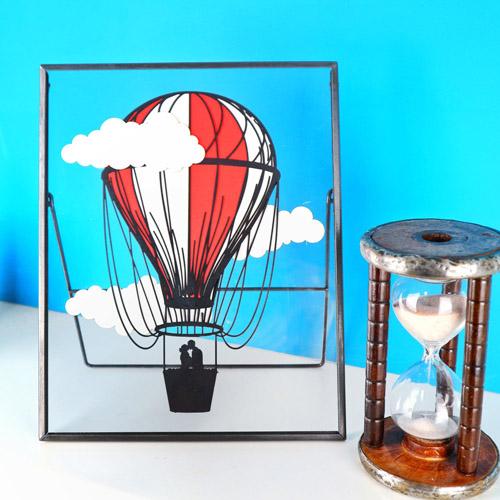Laser Cut Card Balloon Decoration