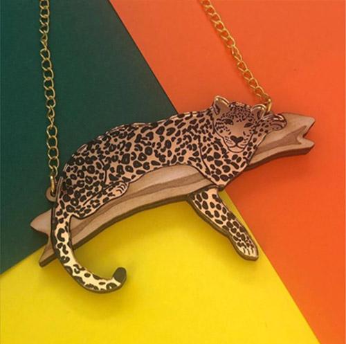 Laser Cut Acrylic Leopard
