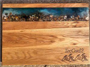 Oak Resin Serving Chopping Board