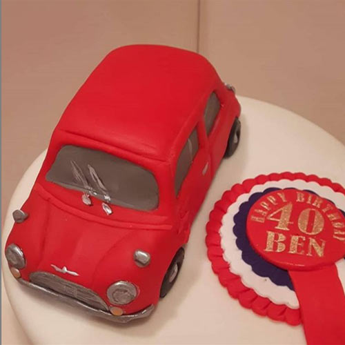 Car Cake with Laser Cut Chassis