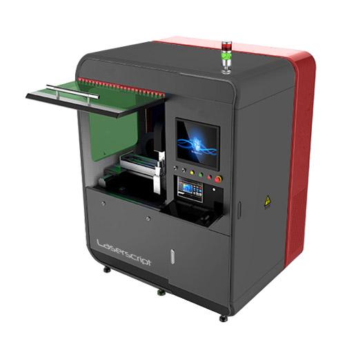 Open front of LS0640 Fibre Laser Cutter