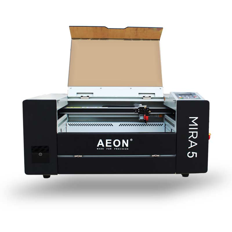 Aeon Laser MIRA 5 CO2 Laser Engraver and Cutter Open Front