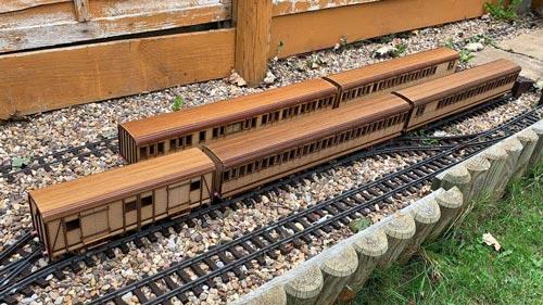 CO2 Laser Cut Model Train