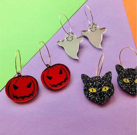 Laser Cut Halloween Jewelry