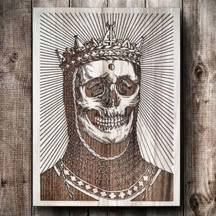 Skull Laser Engraving