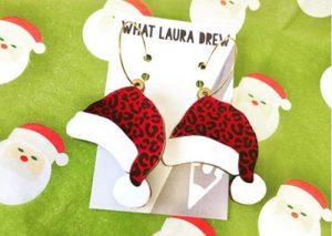 Laser Cut Acrylic Santa Ear Rings