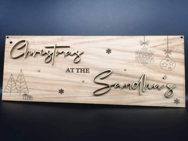 Personalised Laser Engraving on Christmas Decoration