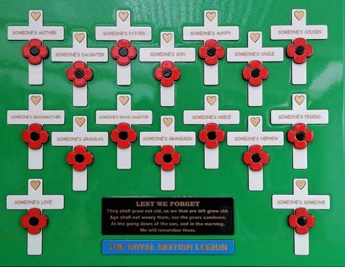 Royal British Legion Plaque