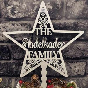 Personalised Laser Cut Christmas Star