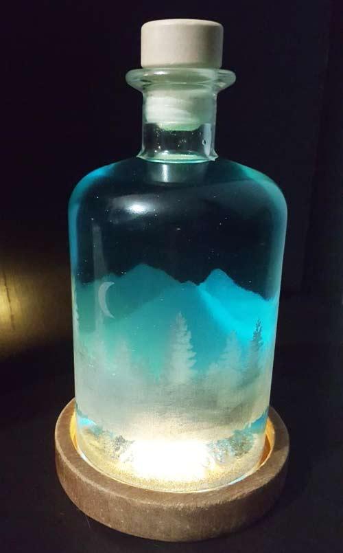 Laser Etched Glass Bottle