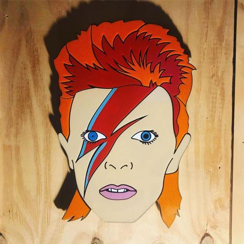 Laser Engraving of David Bowie