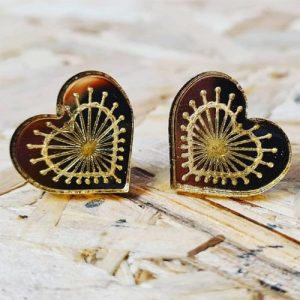 Laser Engraved Acrylic Earrings