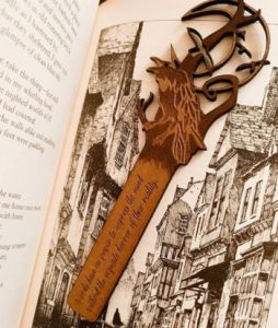 Laser Engraving and Cutting Wooden Bookmark